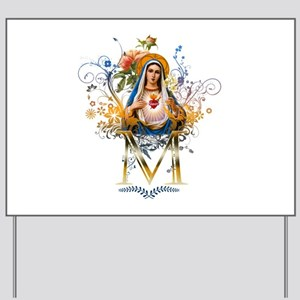 Immaculate Heart of Mary Yard Sign