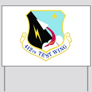 USAF Air Force 412th Test Wing Shield Yard Sign