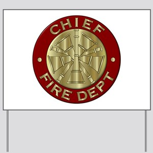 Fire chief brass sybol Yard Sign