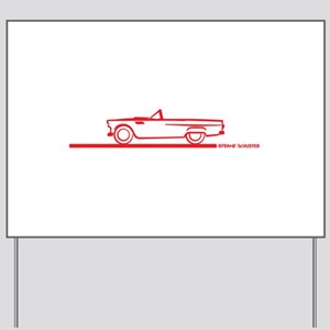55 T Bird Top Down Red Yard Sign