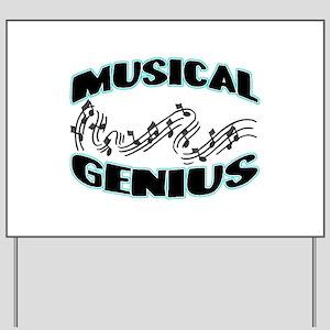 Musical Genius Yard Sign
