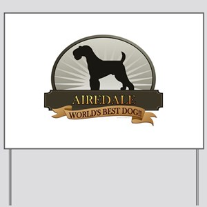 Airedale Yard Sign