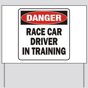 Race Driver Yard Sign