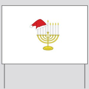 Hanukkah And Christmas Yard Sign