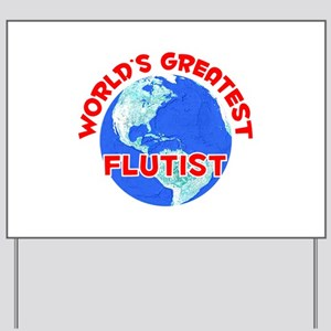 World's Greatest Flutist (F) Yard Sign