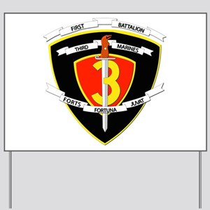 SSI - 1st Battalion - 3rd Marines Yard Sign