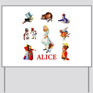 ALICE & FRIENDS IN WONDERLAND Yard Sign