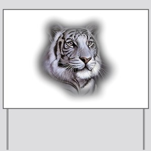 White Tiger Face Yard Sign