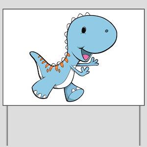 Running Baby Dino Yard Sign