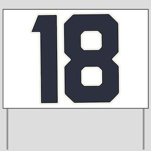18 18th Birthday 18 Years Old Yard Sign