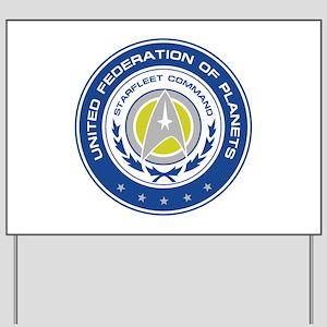 Starfleet Command Logo Yard Sign