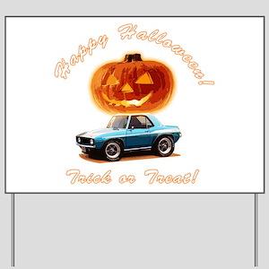 BabyAmericanMuscleCar_60Kmaro_Halloween_Blue Yard