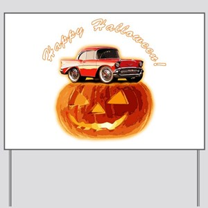 BabyAmericanMuscleCar_57BelR_Halloween Yard Sign