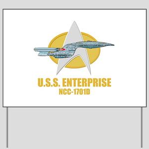 Star Trek Galaxy Class Yard Sign