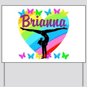 PERSONALIZE GYMNAST Yard Sign