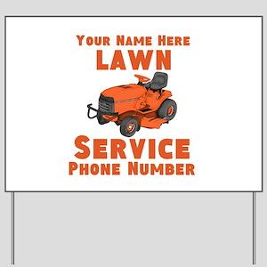 Lawn Service Yard Sign