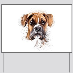 Boxer Painting Yard Sign