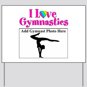 GYMNAST LOVE Yard Sign