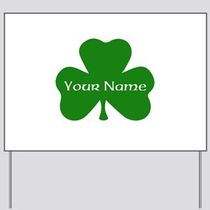 CUSTOM Shamrock with Your Name Yard Sign