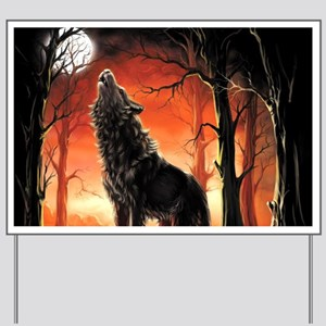 Howling Wolf Yard Sign