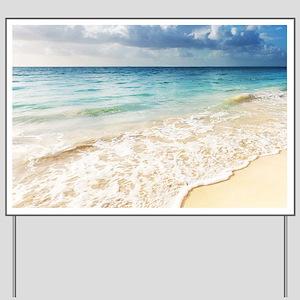 Beautiful Beach Yard Sign