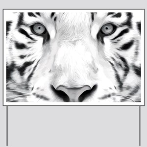 Realistic Tiger Painting Yard Sign