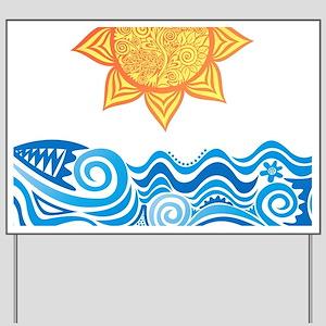 Sun and Sea Yard Sign