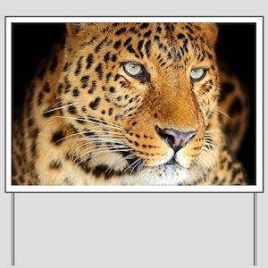 Leopard Portrait Yard Sign