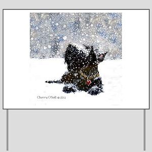 Scottish Terrier Christmas Yard Sign