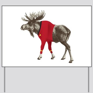 Moose Red Shirt Yard Sign