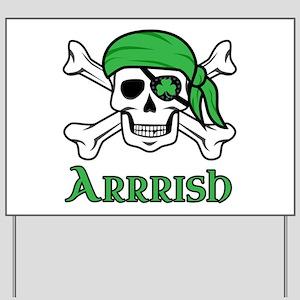 Irish Pirate - Arrrish Yard Sign