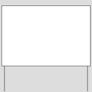 Flaming Heart 3 Yard Sign