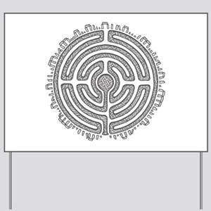 Celtic Labyrinth Mandala Yard Sign