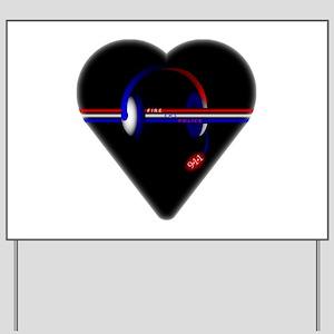 911 Dispatcher (Heart) Yard Sign