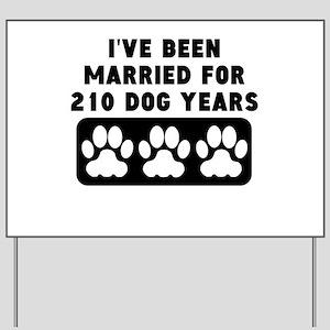 30th Anniversary Dog Years Yard Sign