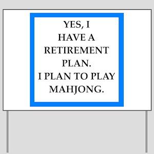 mahjong Yard Sign
