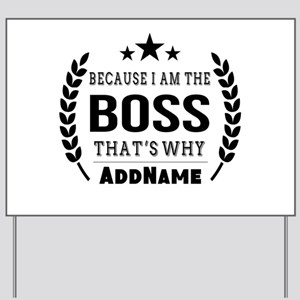 Gifts for Boss Personalized Yard Sign
