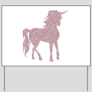 Pink Unicorn Yard Sign