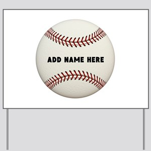 Baseball Name Customized Yard Sign