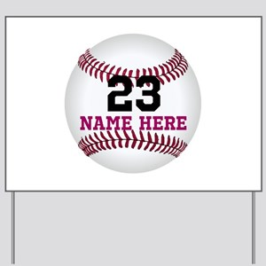 Baseball Player Name Number Yard Sign