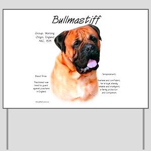 Bullmastiff (red) Yard Sign