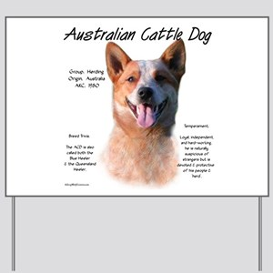 Cattle Dog (red) Yard Sign