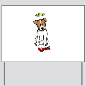 Jack Russell - Angel - Yard Sign