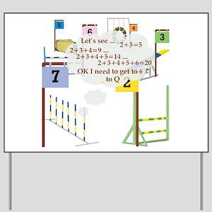 Snooker Math Yard Sign