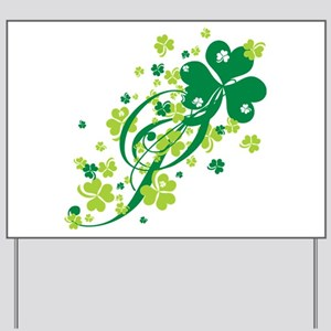 Shamrocks and Swirls Yard Sign