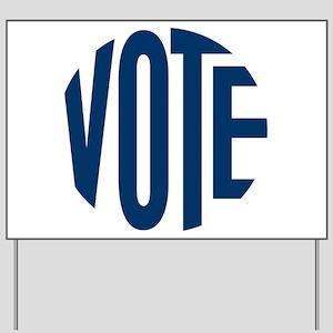 Vote Blue (Circle) Yard Sign