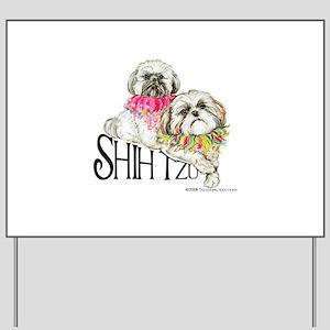 Two Shih Tzu! Yard Sign