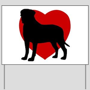 Bullmastiff Valentine's Day Yard Sign