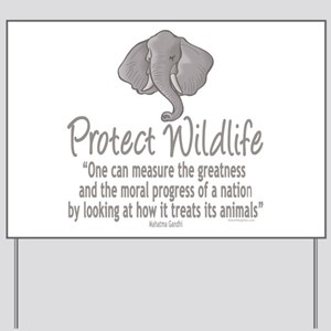 Protect Elephants Yard Sign