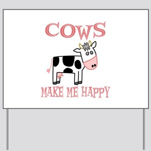 Cows Yard Sign